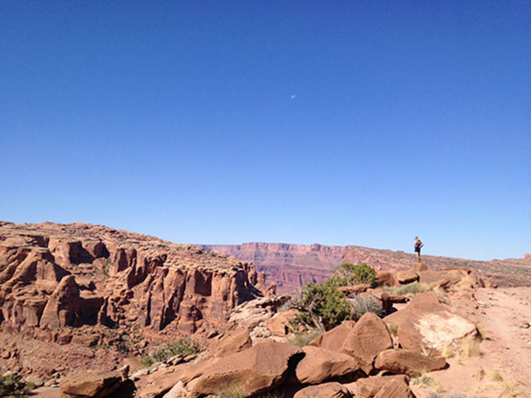 Taking in the view from the Amansa Back Trail in Moab, Utah.