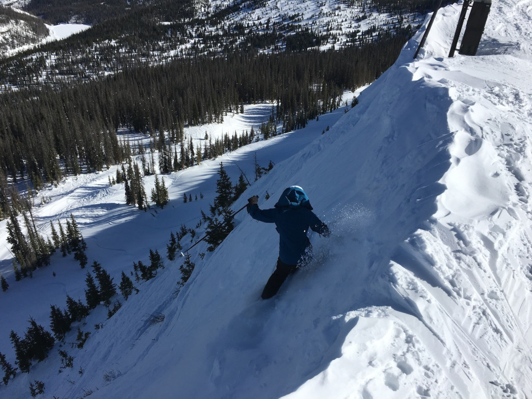 You'll feel joyful jumping off Wolf Creek's Knife Ridge.