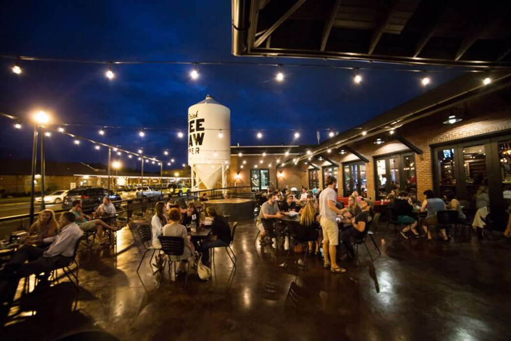 The patio is guaranteed to be kicking on a Friday night.