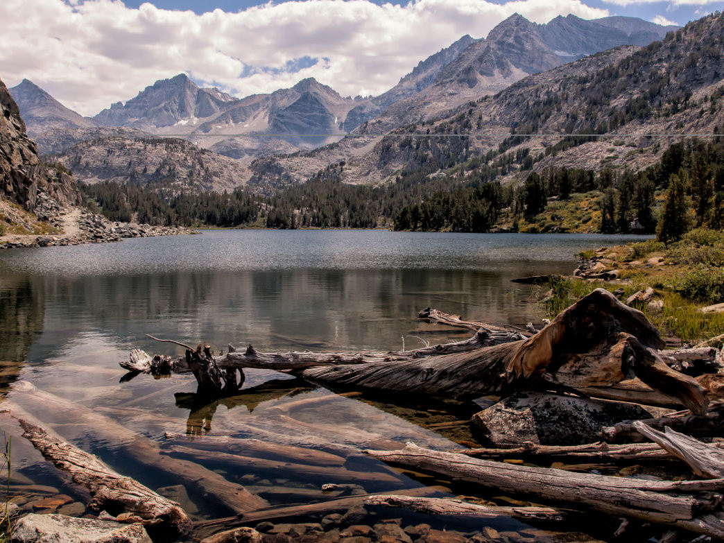 Long Lake is a stunning destination on the Bishop Pass trail.