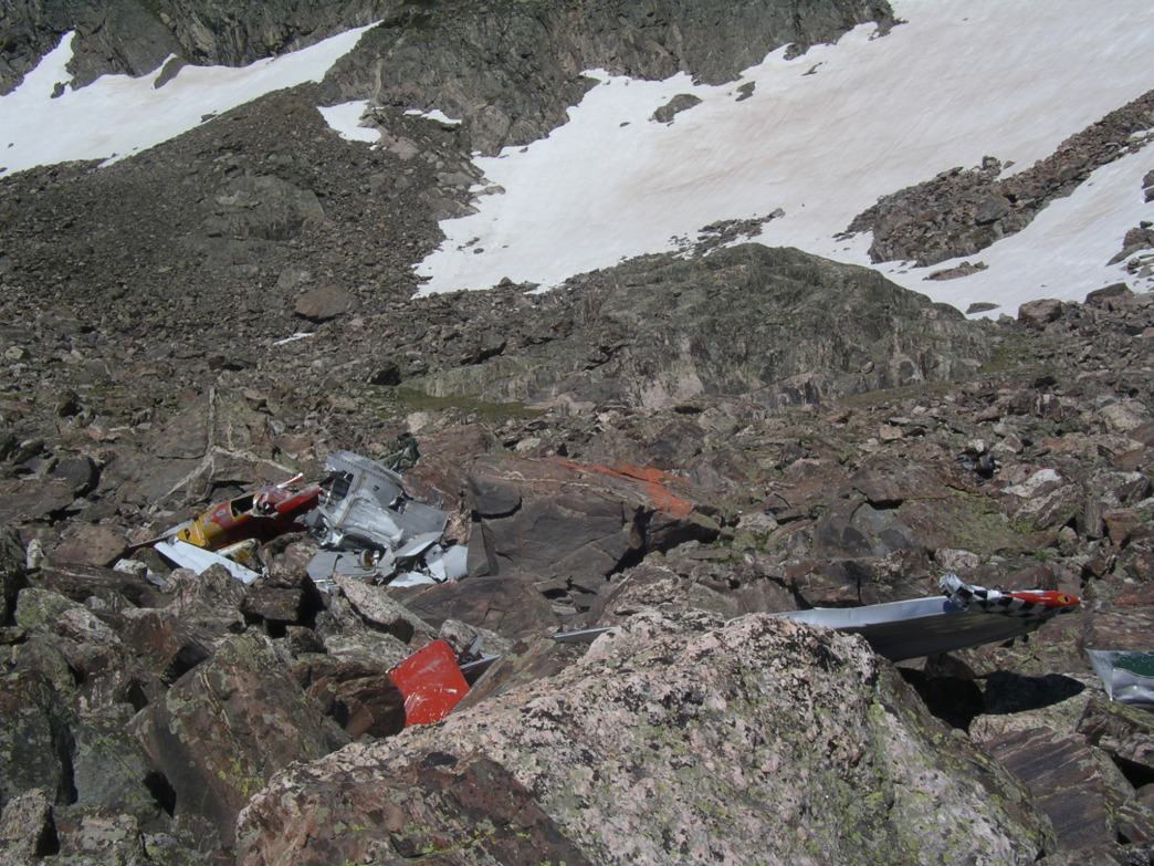 The remains of the AT-6 showing the tell-tale checked pattern on the wing.     James Dziezynski