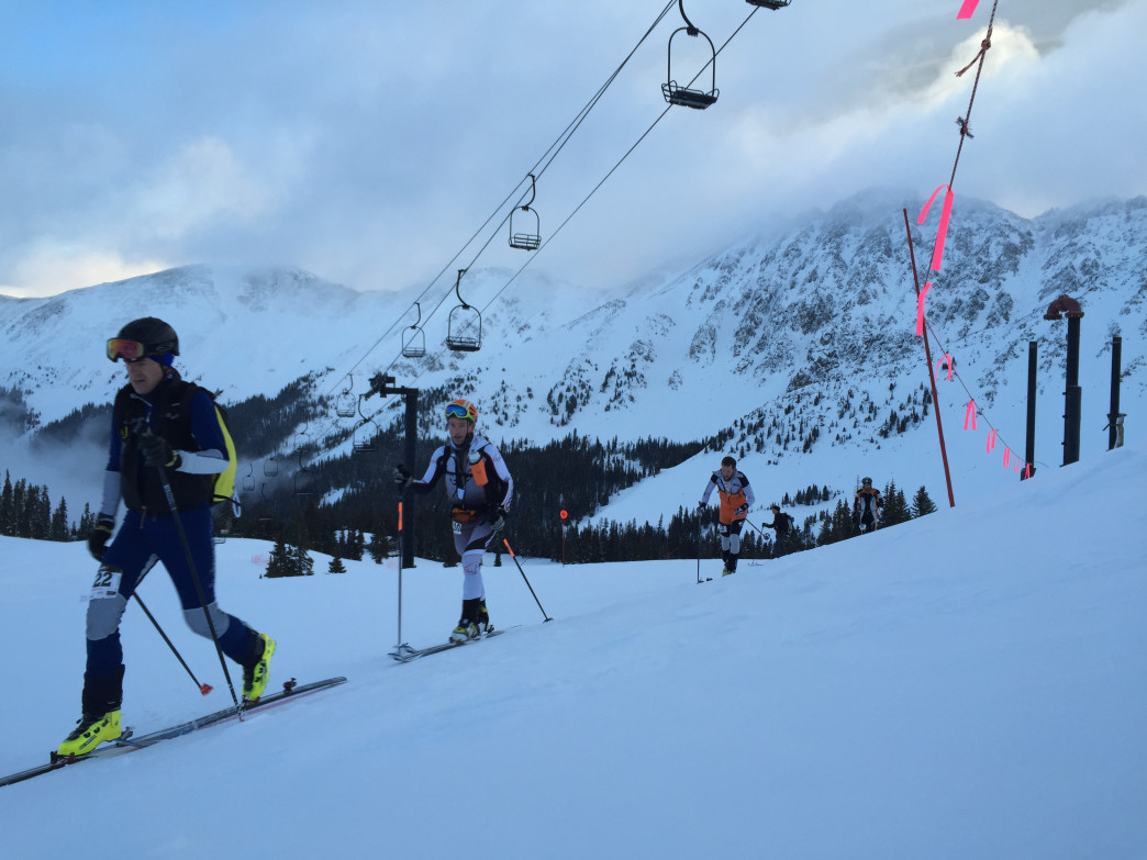 The Rise & Shine Rando Series at Arapahoe Basin offers a good intro to skimo racing.
