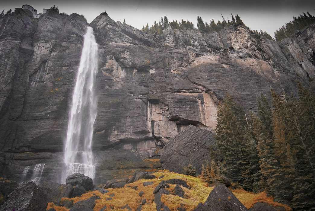 Colorado's Bridal Veil Falls in Telluride is one of the most scenic in the state.