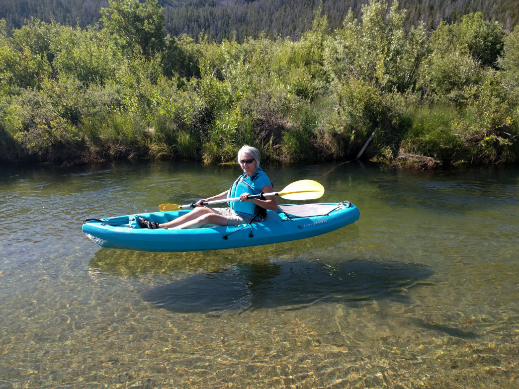 There are countless places to enjoy a relaxing paddle in a canoe or kayak in the Wind River Valley.