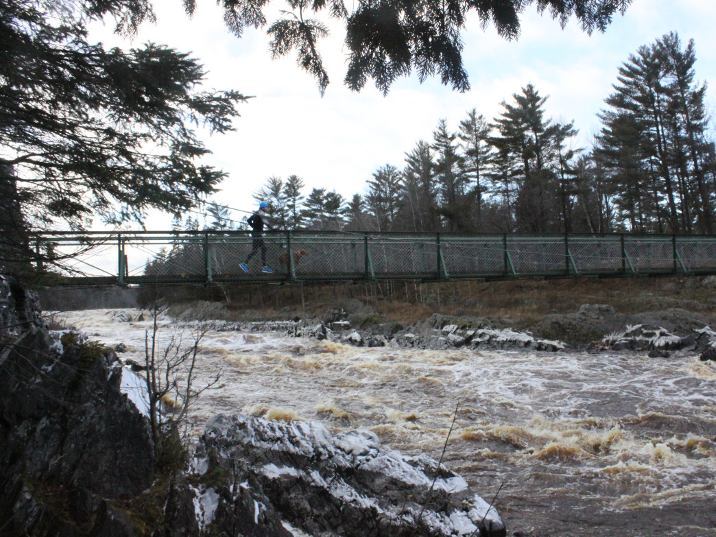 The famous Swinging Bridge at Jay Cooke State Park.