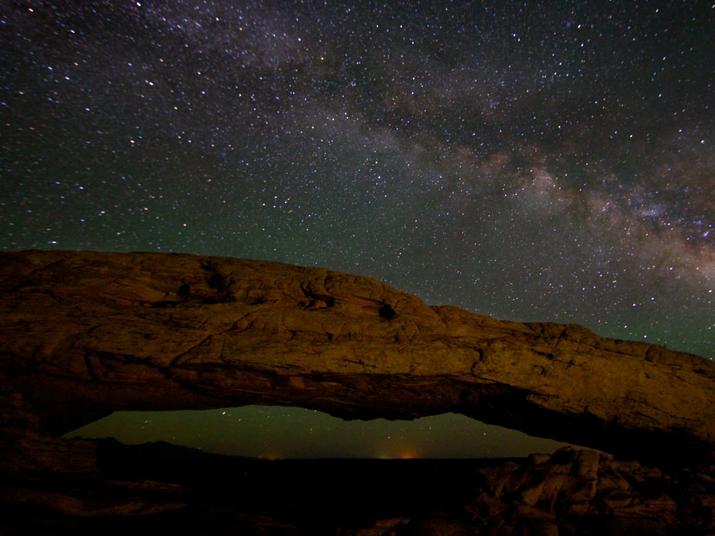 Stars above Canyonlands.