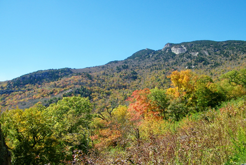 There are a number of trails to Grandfather Mountain, but you can also also drive to the top and hike the crest trails.