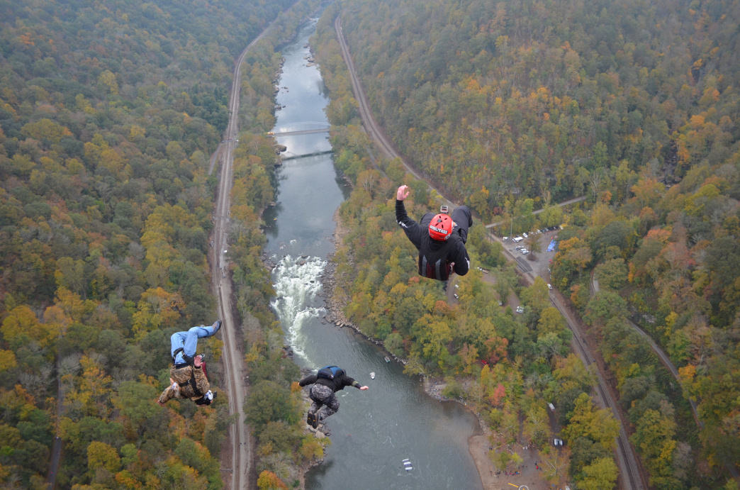 Bridge Day is the one day a year that BASE jumping is legal in the NRG.
