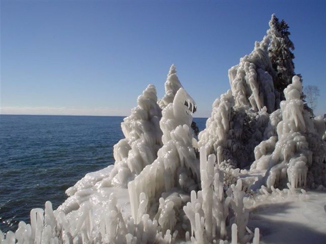 You'll find some stunning winter views at Tettegouche State Park.