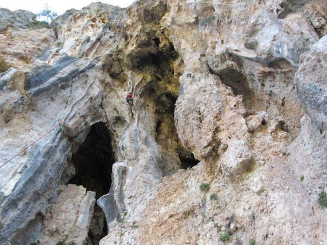 Roanne Climbing in Turkey