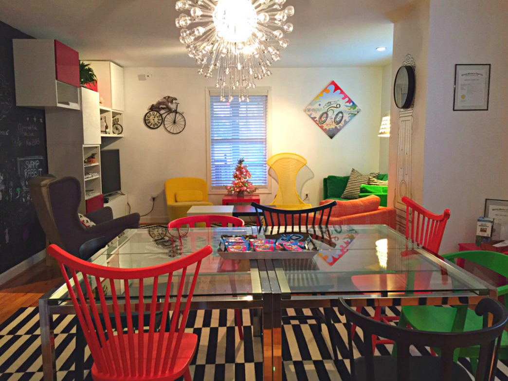 The Swamp Rabbit Inn has a cheerful, cycling-centric vibe.