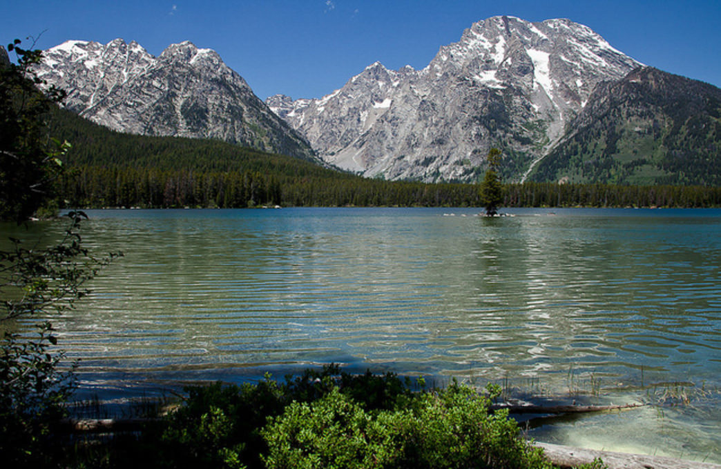 Hike along Leigh Lake and take in the stunning scenery.