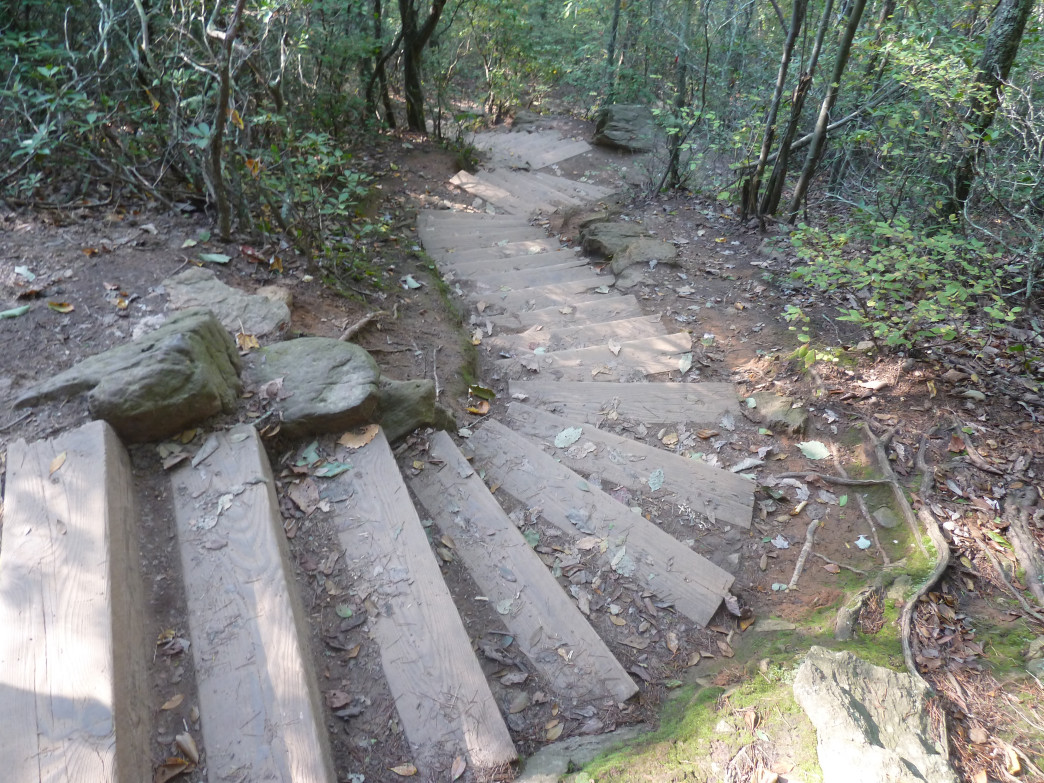 The infamous stairs at Crowders Mountain.