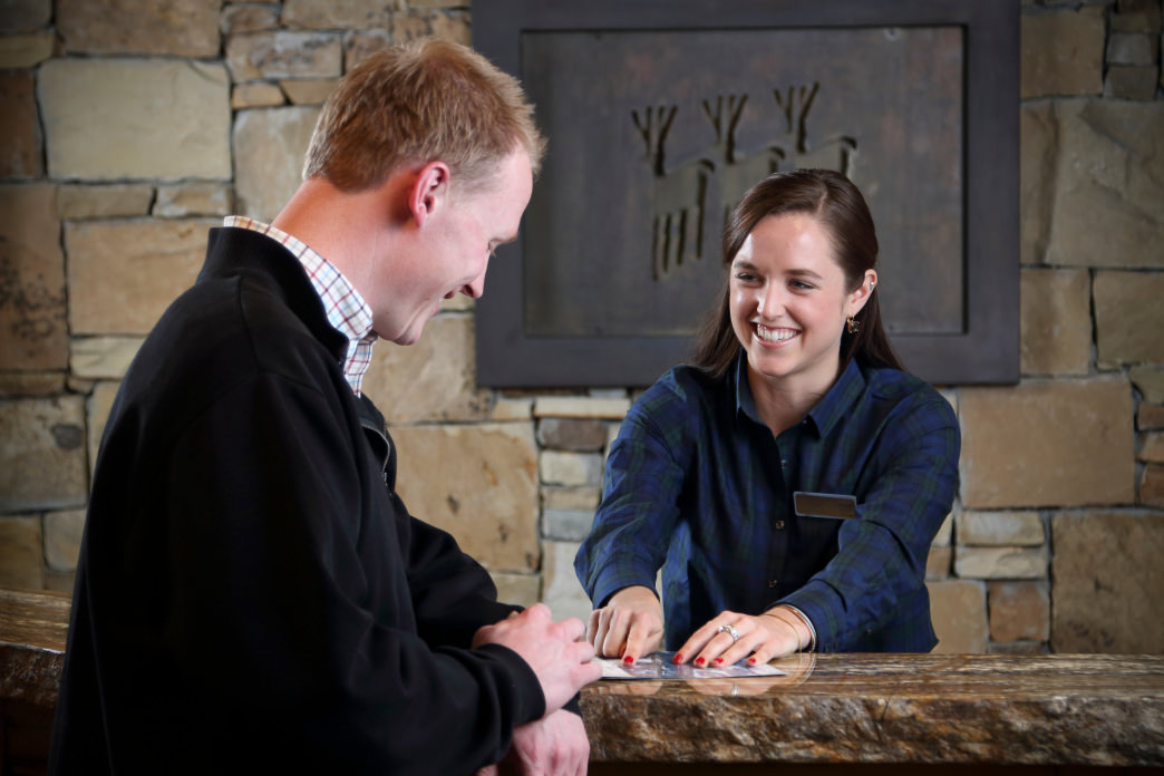 The lodging staff works to make sure that every guest's trip is special.