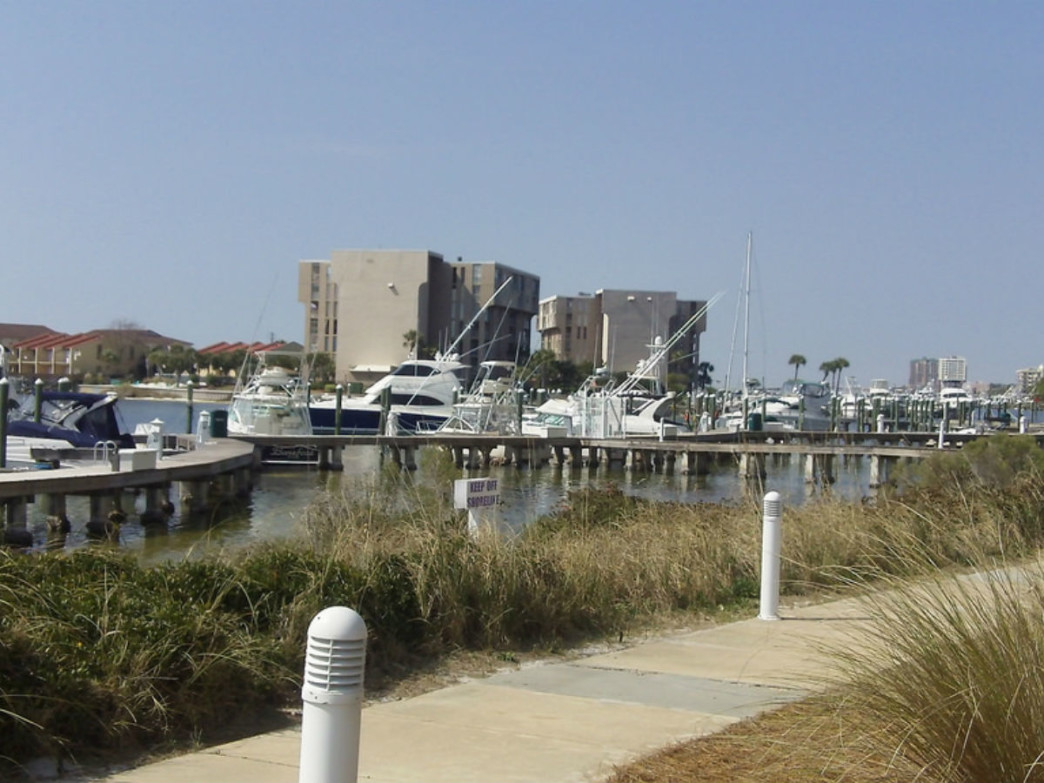 The Destin marina.