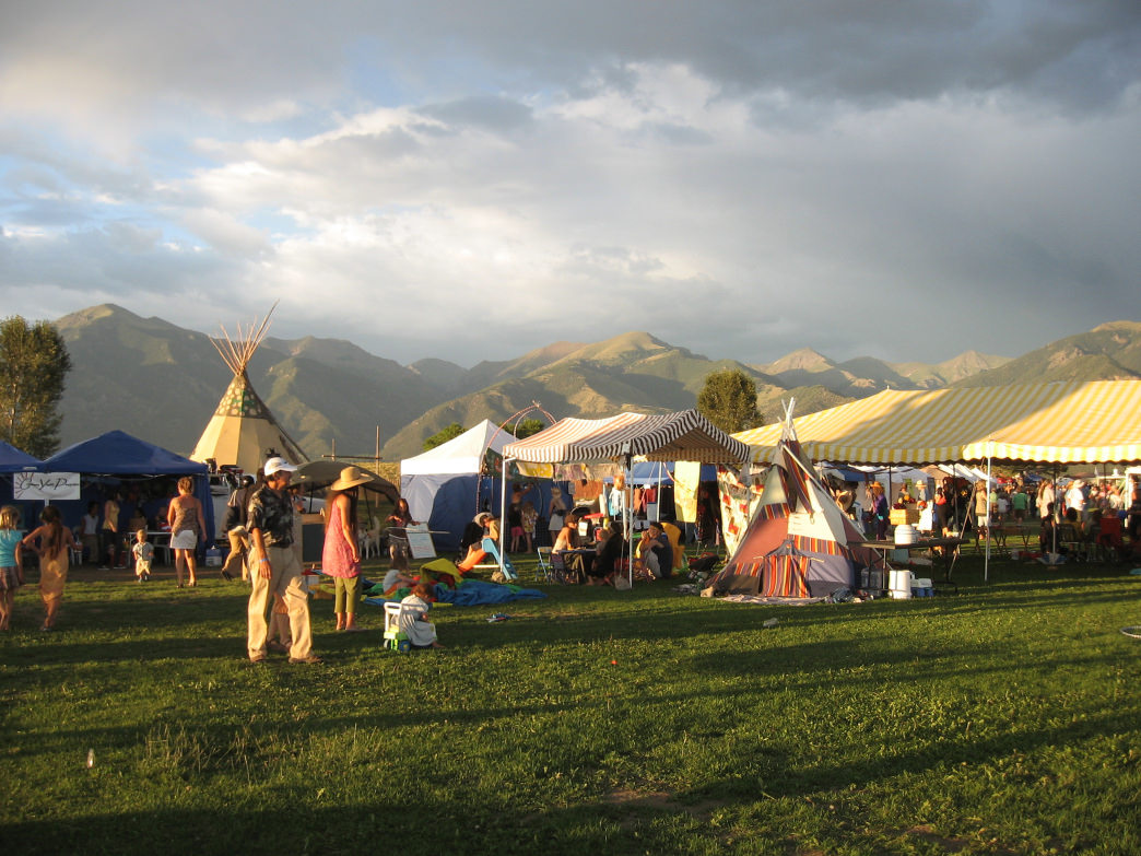 The Crestone Music Festival, or CrestFest, boasts stunning views of the surrounding mountains.