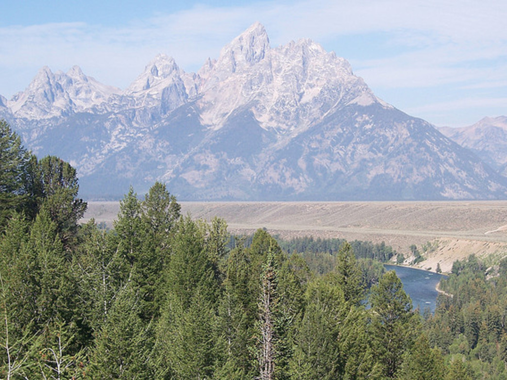 Climb a peak in the Tetons and enjoy some thin air far above the valley floor.