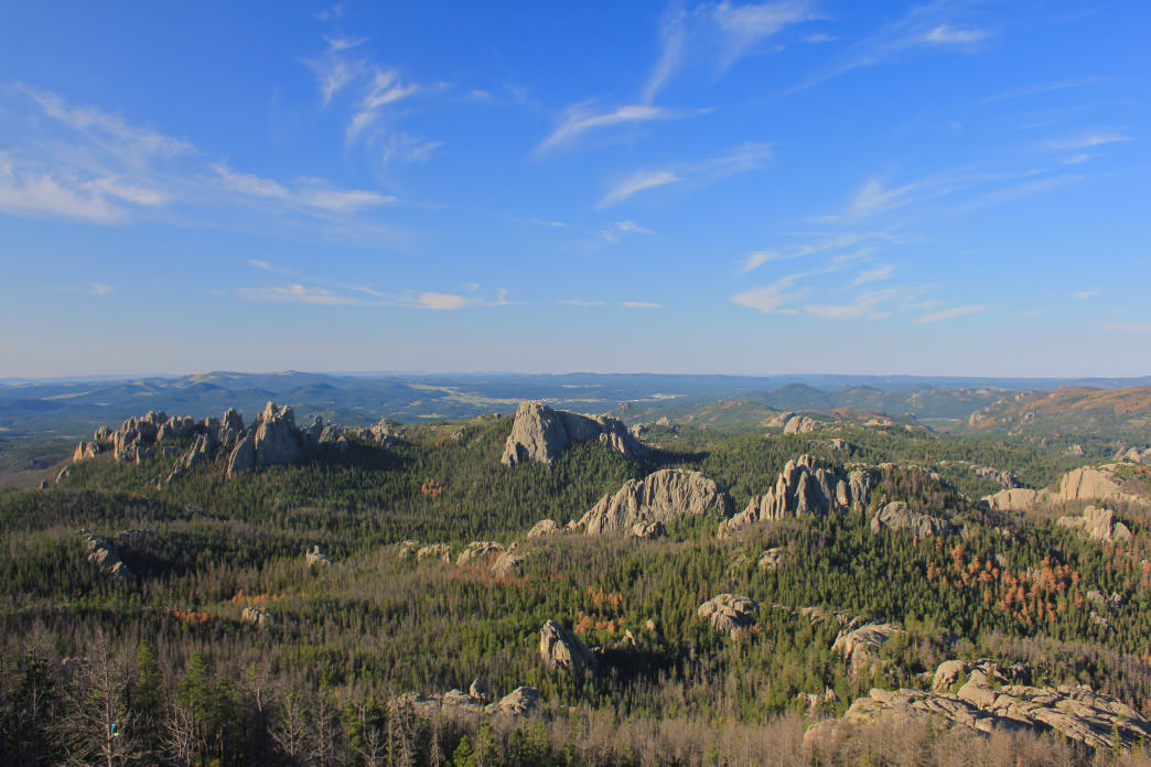 View from Black Elk Peak, South Dakota.