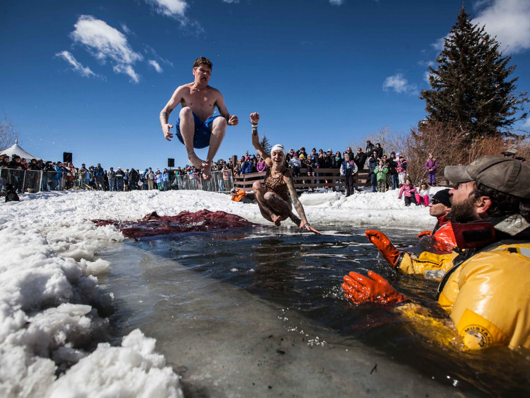 With events like a polar plunge and hearse racing, Frozen Dead Guy Days in Nederland, Colorado is one of the most off-the-wall winter festivals.