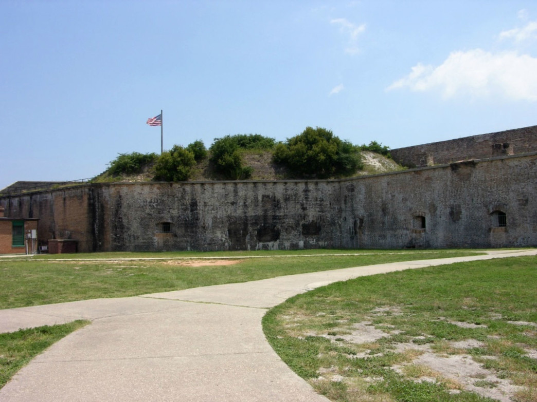 Flag over Fort Pickens.