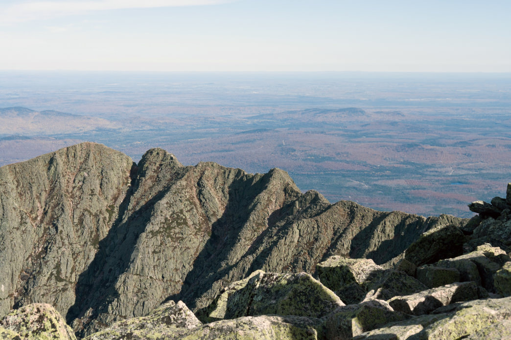 The International Appalachian Trail forms the last leg of the 5,400-mile long journey with a 700-mile hike from Mt. Katahdin, the northern terminus of the A.T., to Cape Gaspe', Canada.