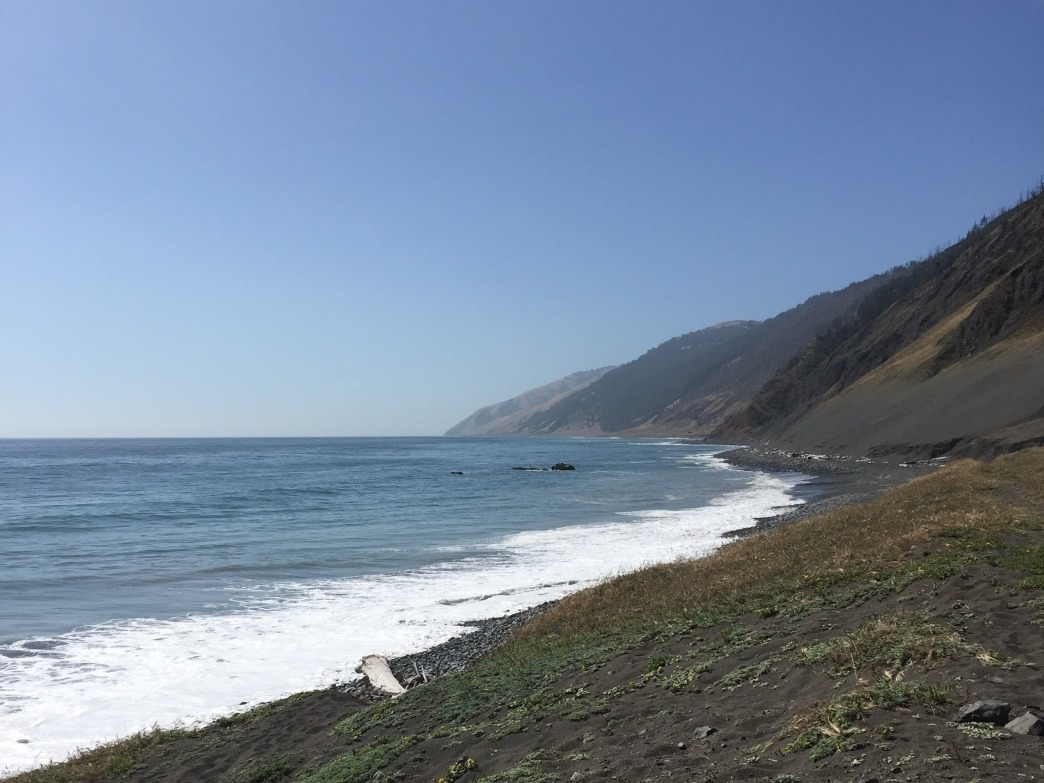 Tides on the Lost Coast in California