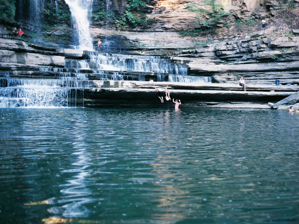 Summer swimming at Cummins Falls.