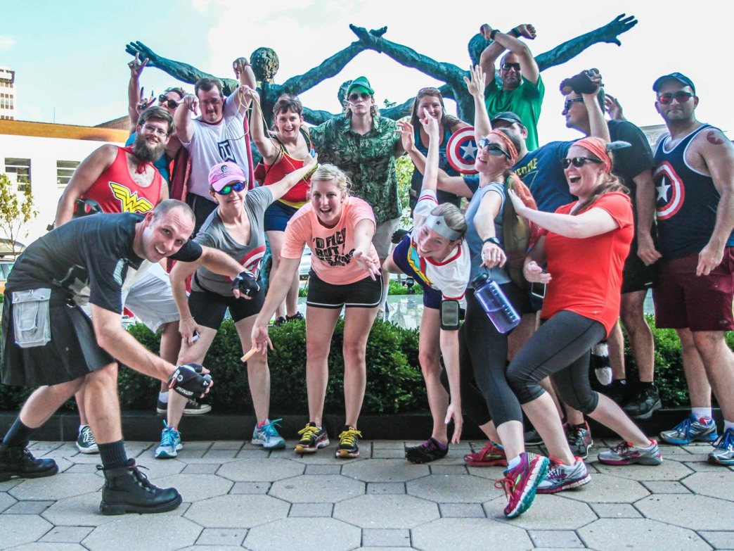 The Mountain Momma Hash House Harriers are all about having fun while getting exercise, too.