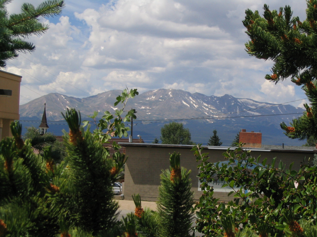 Mt. Elbert, Colorado's highest point, as seen from historic downtown Leadville