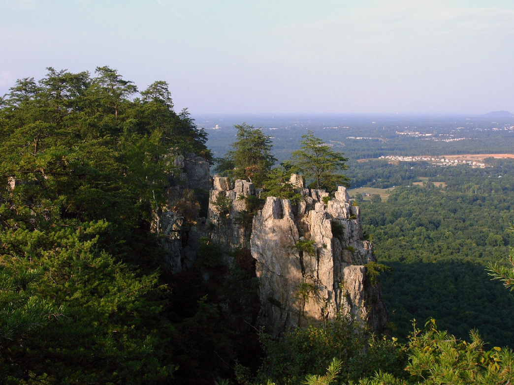 The 25-plus mile looping trail network at Crowders makes it possible to tackle strenuous climbs and rocky scrambles for as much distance as you can take.