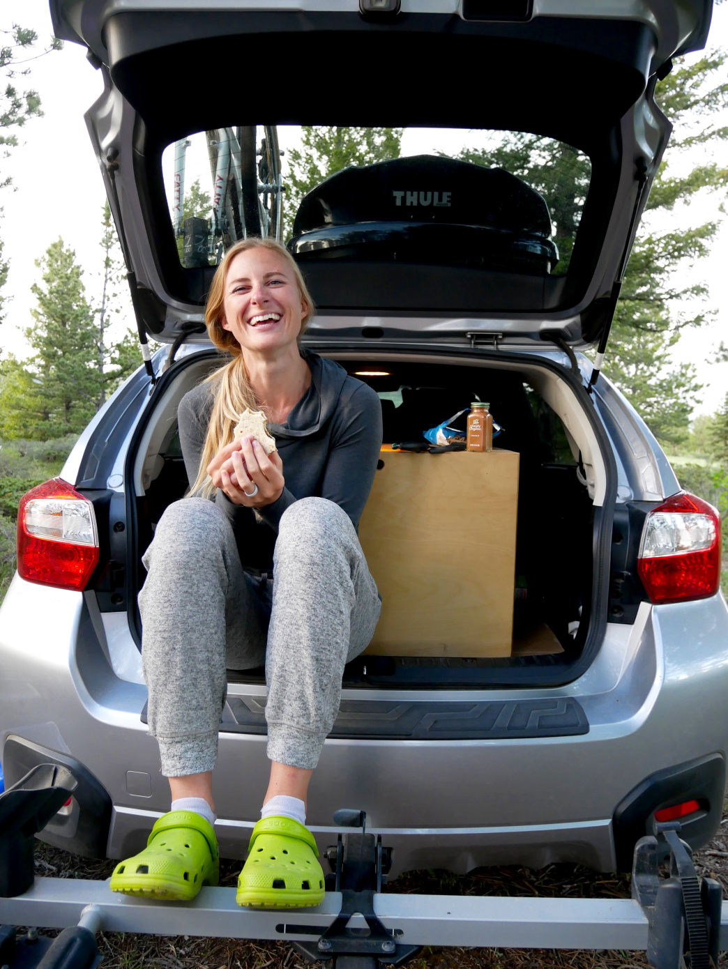 In the end, we decided to live our adventure out of our trusty Subaru hatchback.     Photo courtesy of Melinda Hughes