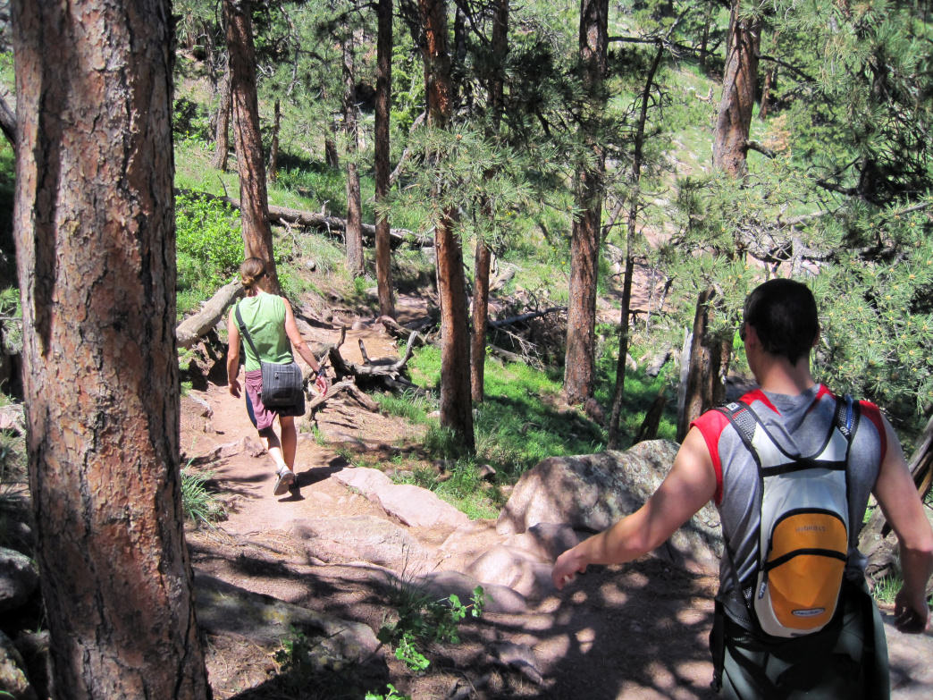 Hikes can be to the top of a mountain or a leisurely stroll in the woods.