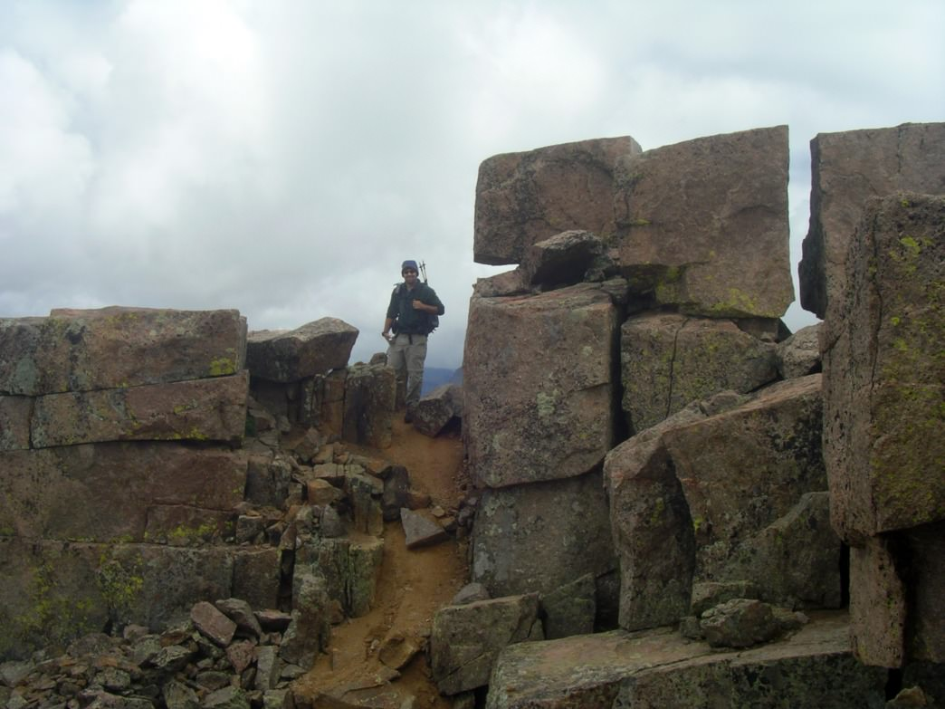 The summit blocks on Windom Peak.