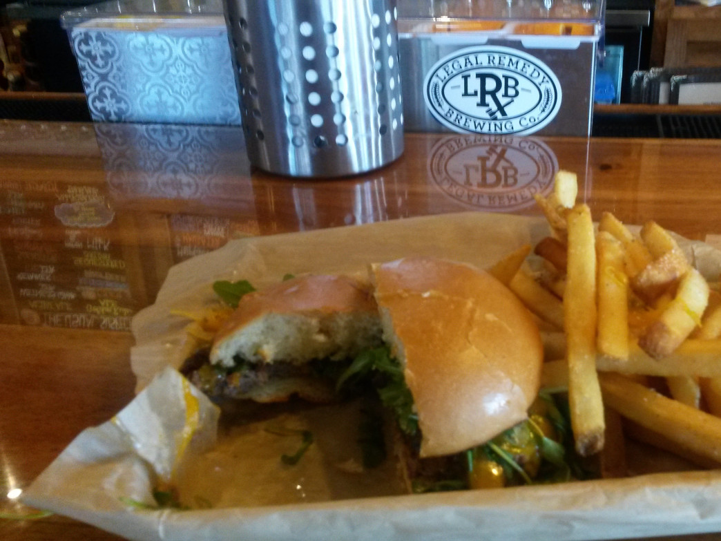 Details are not just for the beer at Legal Remedy Brewing: The focus on great food is obvious too.