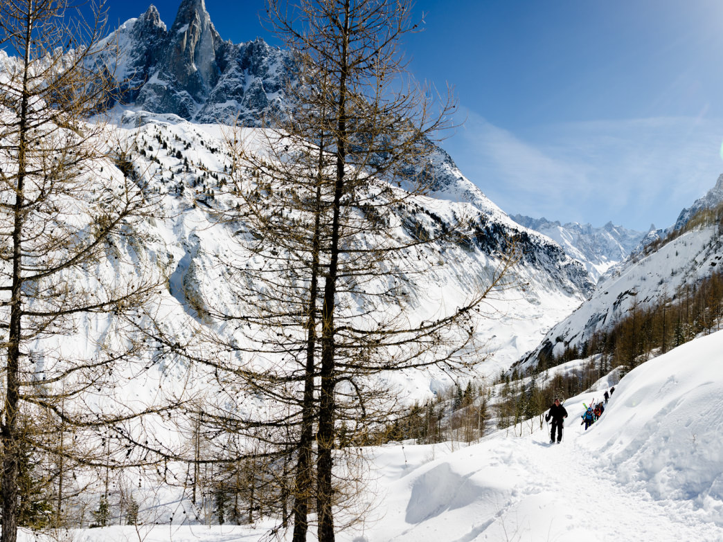 The experts-only Vallée Blanche in Chamonix.