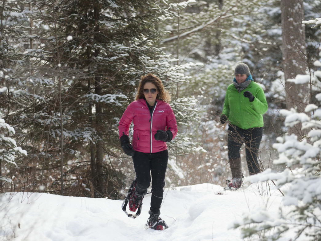 Minocqua has plenty of trails designated just for snowshoeing.