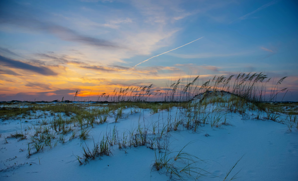 Beaches on the Florida Panhandle are known for their unique white sand.