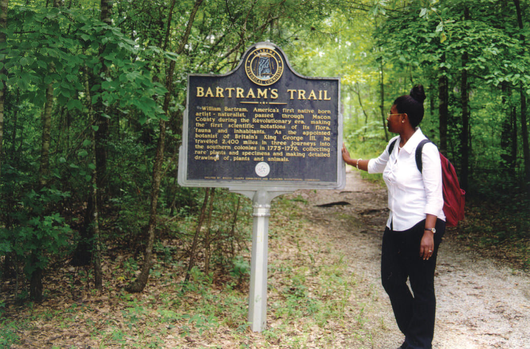 A visitor on the Bartram National Recreation Trail, the first of its kind in Alabama.