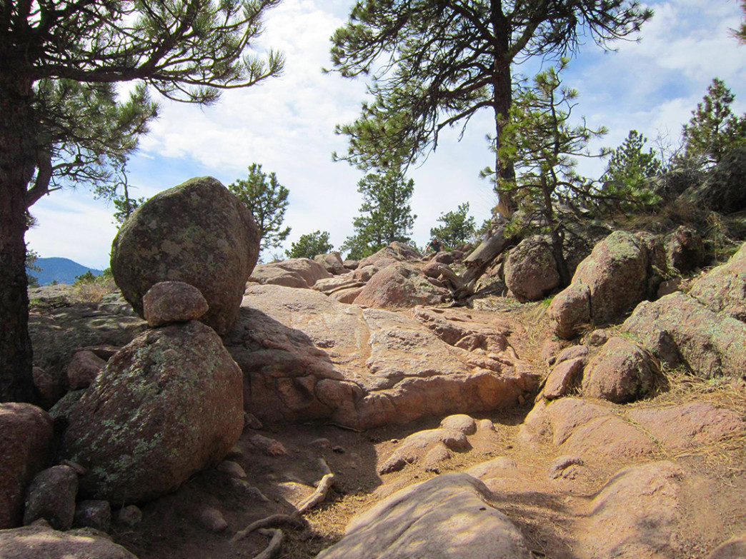 Hall Ranch's notorious rock garden.