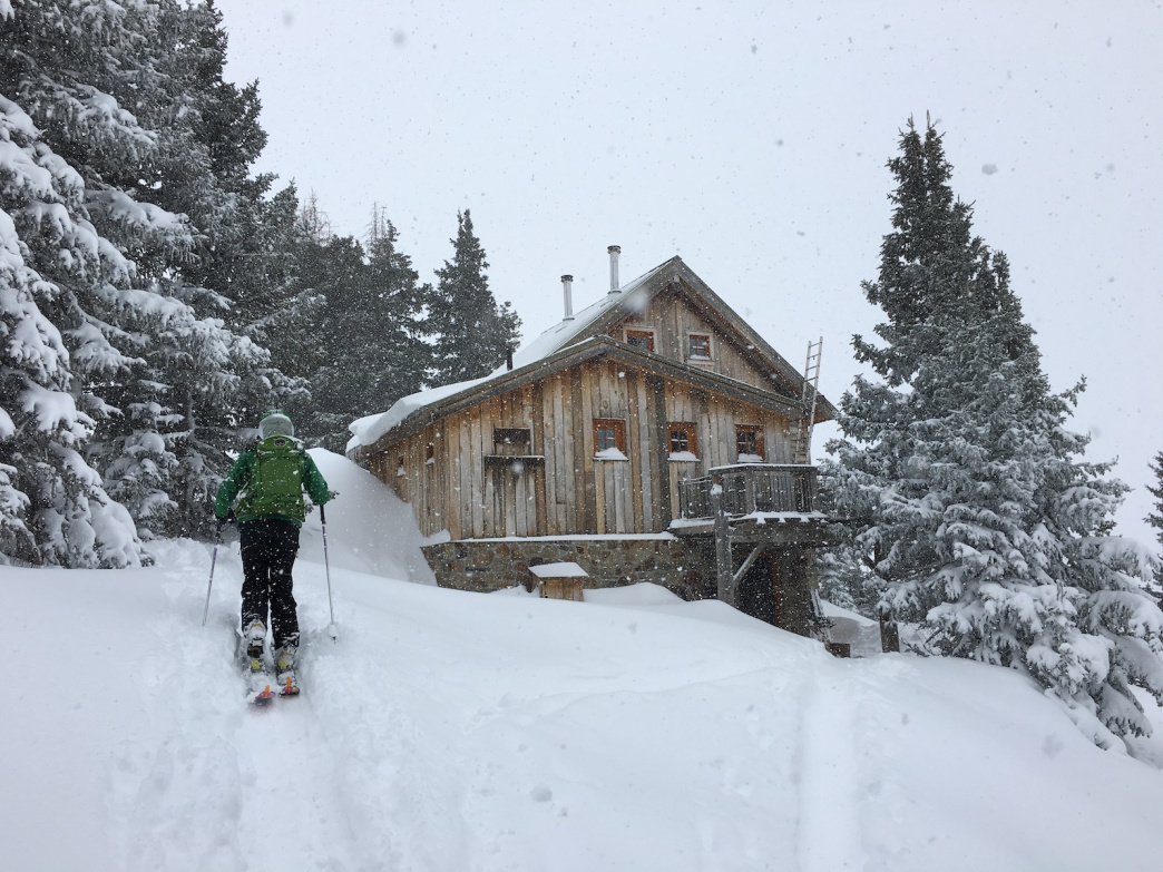 OPUS Hut is a welcome backcountry retreat at nearly 12,000 feet.