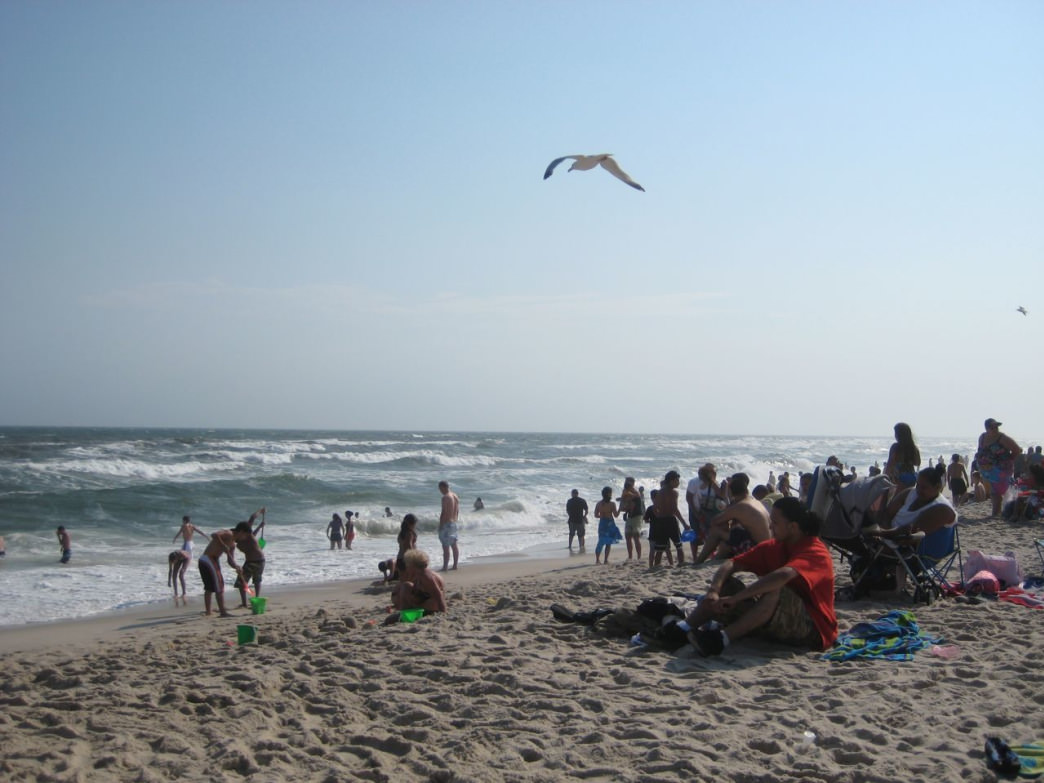 The Surf At Robert Moses State Park Draws Big Crowds On A Summer Weekend