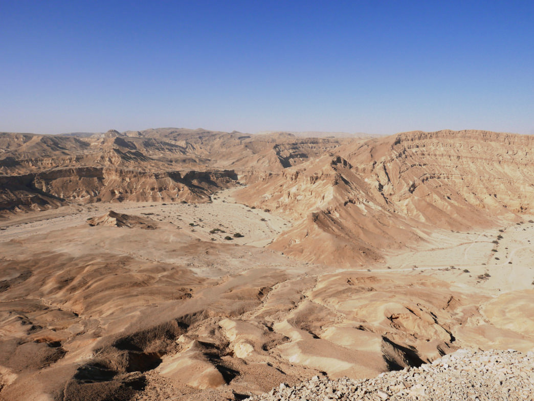The Negev Desert spans the southern half of Israel.