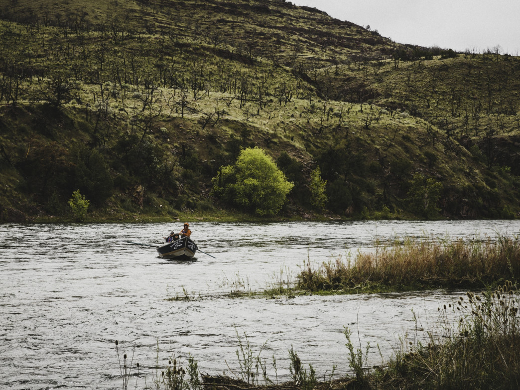 Fly fishing from a drift boat along the Green River is a magical experience.