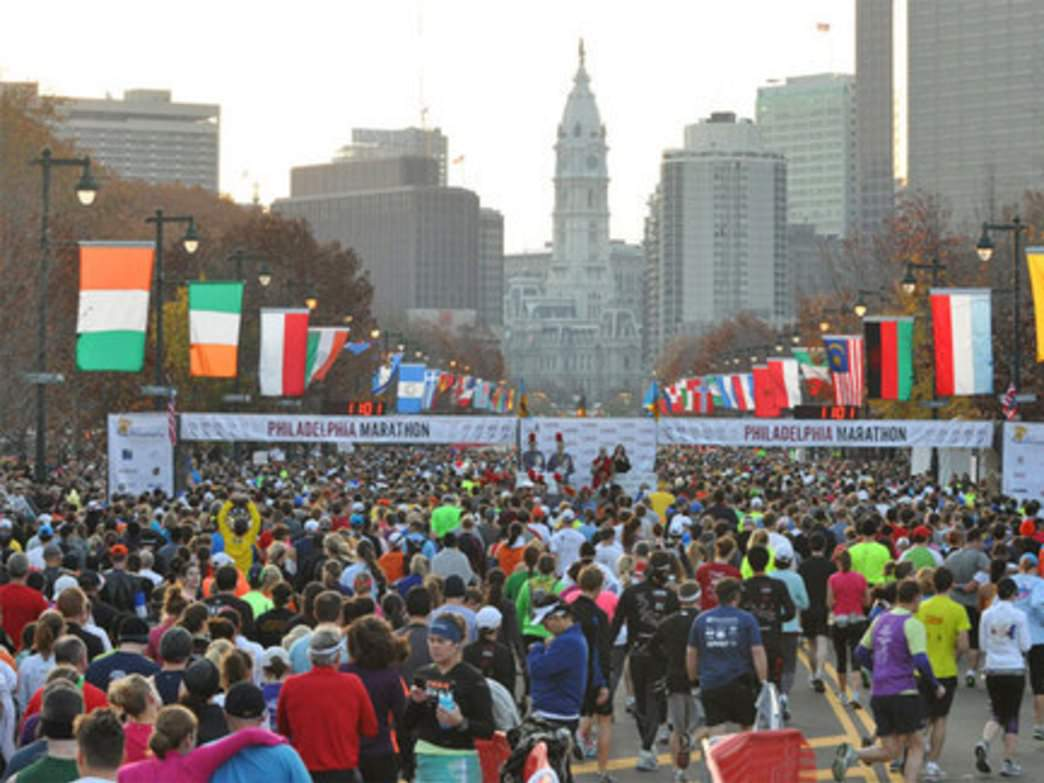 About 30,000 people run the Philly Marathon and Half each year.