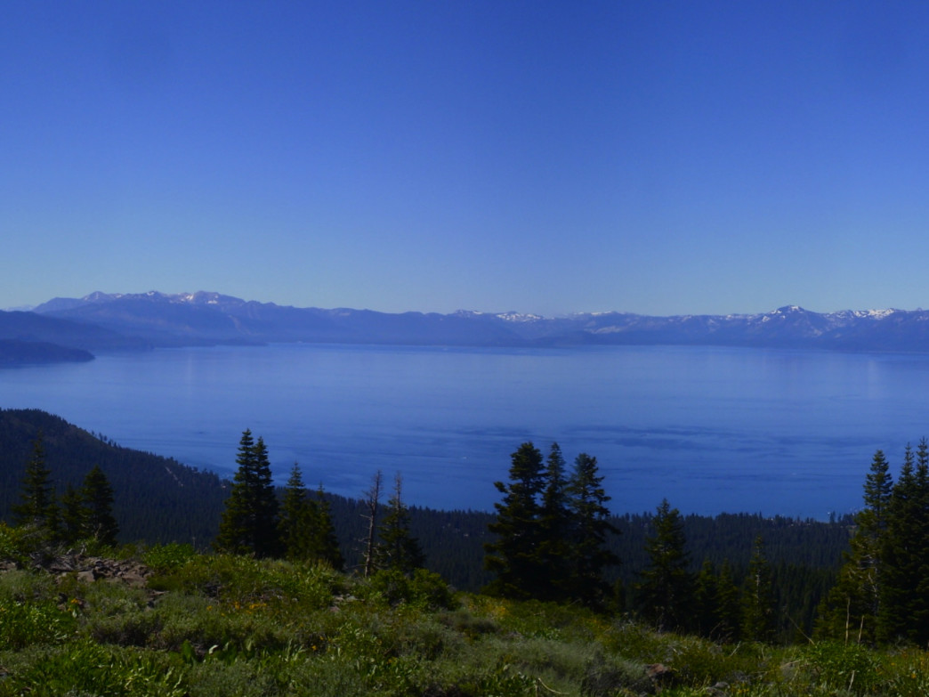 Wide panoramic views are a common theme when running the Tahoe Rim Trail.