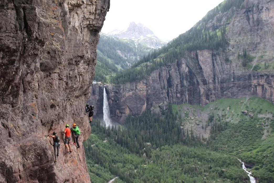 Taking on the  legendary Via Ferrata in Telluride