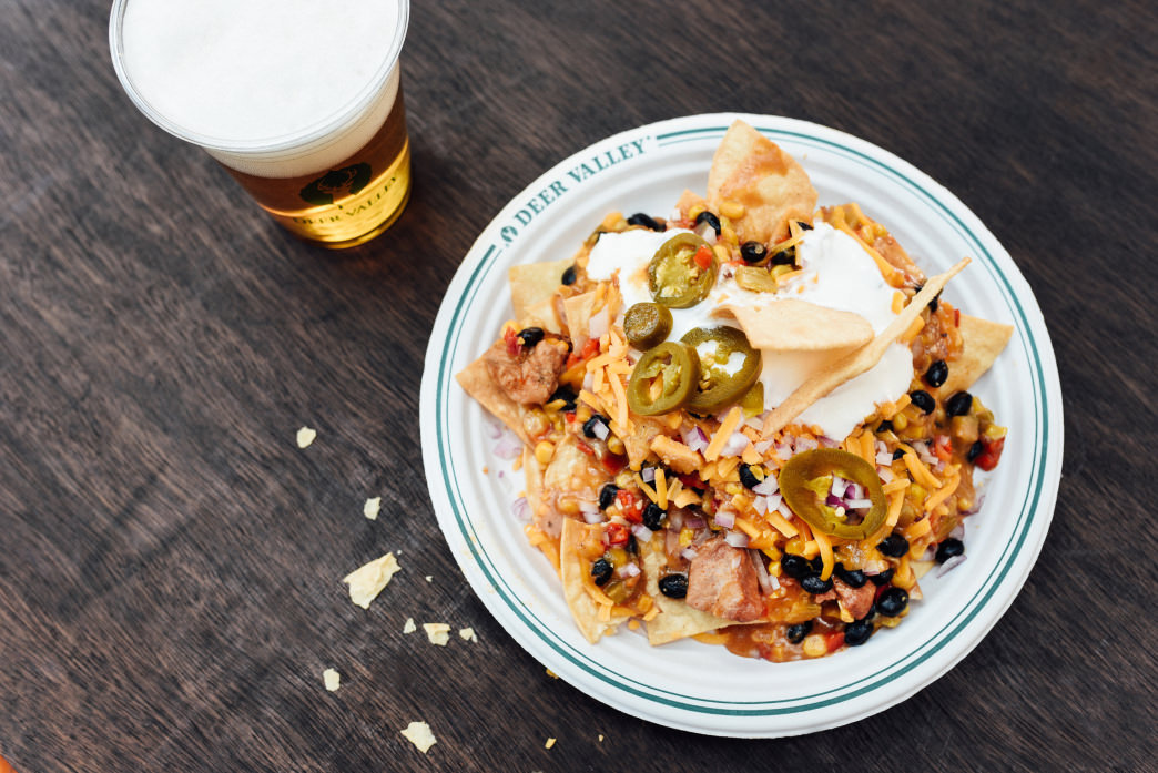 Grab a plate of nachos or other quick eats at the Snack Shack.