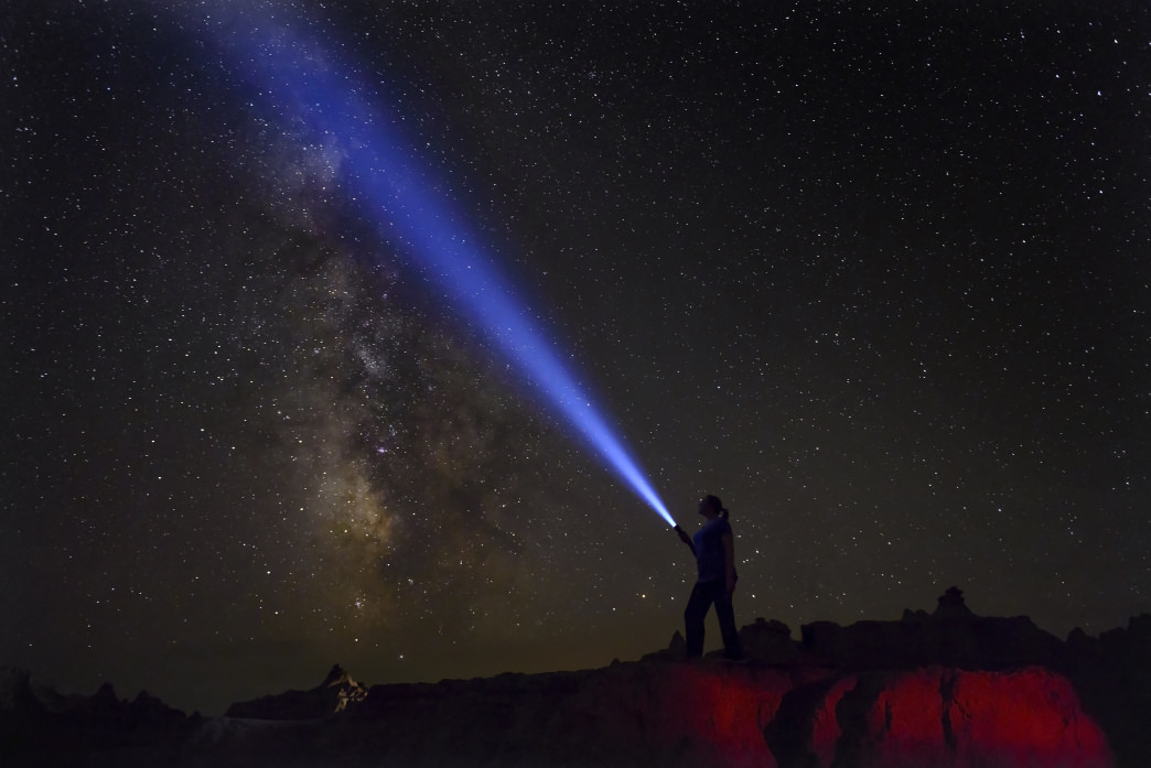 Badlands National Park is an excellent spot for stargazing.