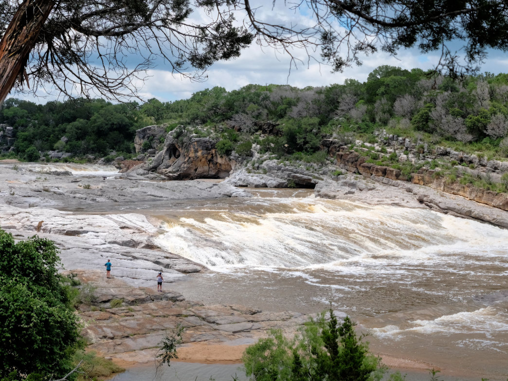 The iconic Pedernales River flows through Texas Hill Country to the west of Austin.