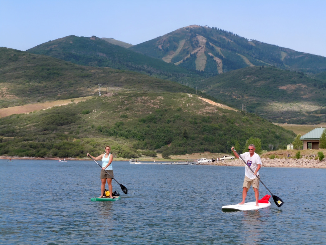 Jordanelle's calm waters will make stand-up paddleboarding a breeze.